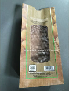 Kraft Paper Potatoes Bag with Netting Window pictures & photos
