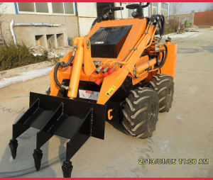CE Mini Skid Steer Loader with Three Shank Ripper/Tiller pictures & photos