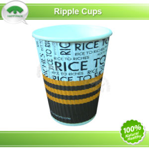 Paper Ripple Cup with Colourful Printing pictures & photos