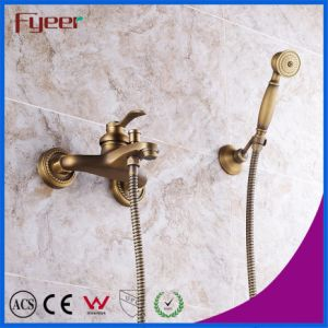 Fyeer Solid Copper Wall Mounted Antique Bath Shower Faucet pictures & photos