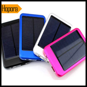 5000mAh Solar Power Bank Battery Charger for Mobile Phone pictures & photos