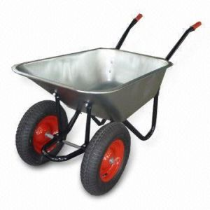 Double Wheels Wheelbarrow (WB6404HD) pictures & photos