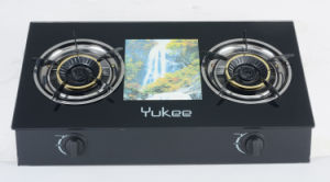 2 Burners Tempered Glass Gas Stove (YD-2GT06)