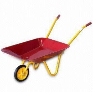 Children Wheelbarrow with Steel Tray, Solid Wheel