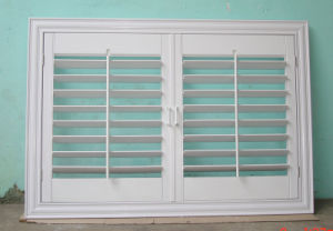 High Quality Customized American Style PVC Shutter Window pictures & photos