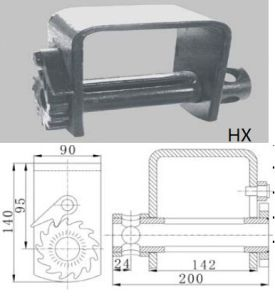 Cargo Winch (with Plate), Truck Winch, Trailer Part (FE03-0501)