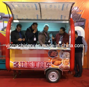 Hot Sale VL-001 Mobile Food Cart with Wheels pictures & photos
