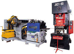 3 in 1 Feeder Machine, Uncoiler Machine and Press Machine