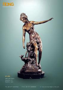 Bronze Sculpture--A Girl Near the Fountain (EP-008)