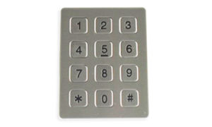 Flat-Keys Keyboard, Suitable for Self-Service Terminal, 12 Corrosion-Proof Stainless Keypad pictures & photos