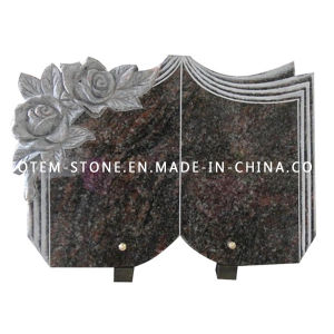 Custom Book Shape Flower Granite Stone Carved Monument / Gravestone pictures & photos