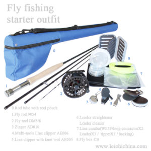 High Carbon Fly Fishing Rod Kit for Starter pictures & photos