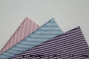 Cotton Nylon with Spandex Yarn Dyed Mini Stripe Fabric pictures & photos