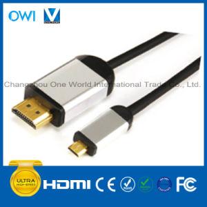 HDMI 19pin Plug-Micro HDMI Cable pictures & photos