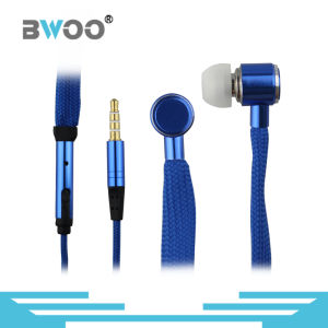Universal 3.5mm Shoelace Stereo Headphone in-Ear Earphone pictures & photos