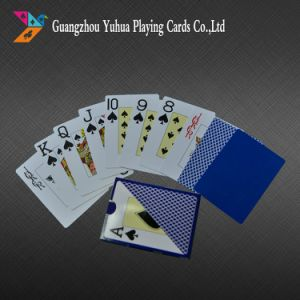 Black Core Paper Poker PVC Playing Cards for Casino pictures & photos