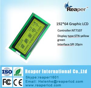Yellow Green Monochrome LCD 192X64 COB LCD Module pictures & photos