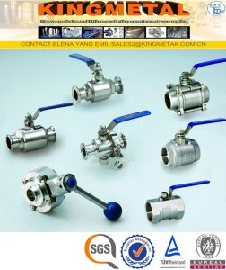 Stainless Steel 3A 2PC SS304 CF8 Sanitary Valves pictures & photos