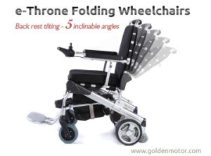 Portable Lightweight Brushless Folding Electric Wheelchair with LiFePO4 Battery pictures & photos