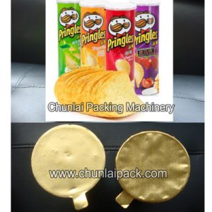 Potato Chip Paper Canister Sealing Machine pictures & photos