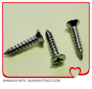 Stainless Steel Flat Head Self Tapping Screw DIN7982 St2.9 to St6.3 pictures & photos