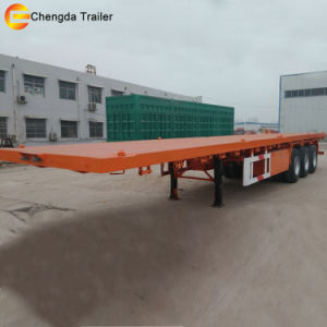 Top Quality Flatbed Container Semi Trailer for Sale pictures & photos
