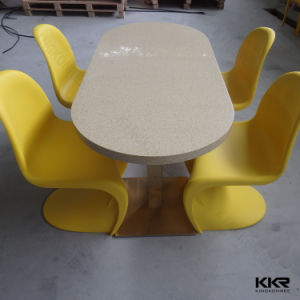 White Square Restaurant Solid Surface Dining Table pictures & photos