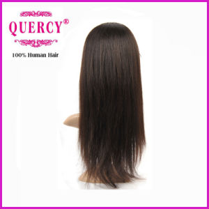 "100% Human Indian/ Brazilian Virgin Remy 16"" Straight Front Lace Wig pictures & photos"