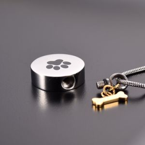 Cheap Wholesale Pet Paw Print Stainless Steel Memorial Urn Jewellery for Ashes pictures & photos