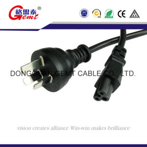 Australia 3pins Extension Cord with 10A AC Plug 240V Socket pictures & photos