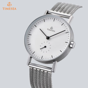 Simple Dial Stainless Steel Mesh Band Men′s Wrist Watch 72928 pictures & photos