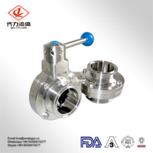 304/316L Sanitary Stainless Steel Threaded/Welded/Clamped Butterfly Valve pictures & photos