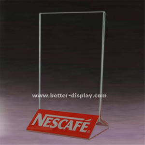 Custom Acrylic Table Menu Stand Chalkboard pictures & photos