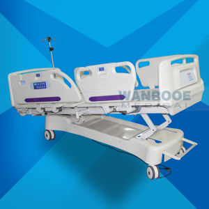 Bae517ec Cheap Price Hospital Rolling Examination ICU Electric Bed for Patients with Mattress pictures & photos