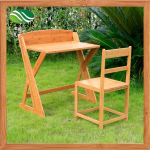 Bamboo Kids Study Table and Chair Set pictures & photos