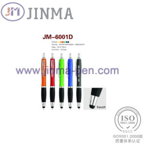 The Promotion Gifts Plastic Ball Pen Jm-6001d with One Stylus Touch pictures & photos