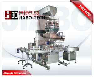 Automatic Granule Jar/Can/Bottle Weighing&Filling Capping Machine pictures & photos