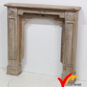 Antique Rustic Indoor Freestanding Wood Fireplace Mantel pictures & photos