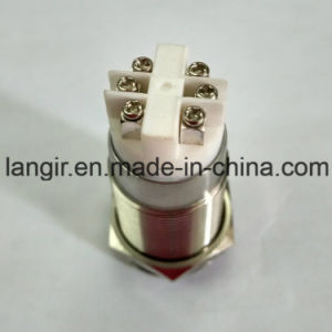 19mm Red DOT LED Latching Push Button Metal Car Switch pictures & photos