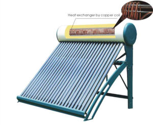 Copper Coil Pressurized Solar Hot Water Heater pictures & photos
