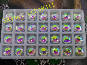 20mm/25mm/30mm Round Ab Diamond Crystal Stones for Garment Jewelry pictures & photos