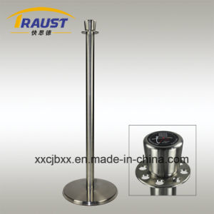 Hotel Using Premium Stainless Steel and Iron Base Queue Pole pictures & photos