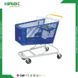 American Style 180L Plastic Shopping Cart Trolley pictures & photos