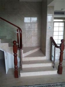 Chinese Modern Fashion Style Glass Stainless Steel Wood Stair Railing pictures & photos