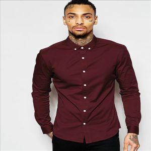 2016 Men′s New Arrival Latest Cotton Formal Plain Shirts pictures & photos