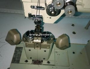 Post-Bed Compound Feed Lockstitch Sewing Machine for Seat Cushion pictures & photos