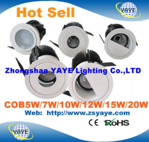 Yaye 2016 Hot Sell COB 5W/7W/10W/12W/15W/18W/20W CREE LED Downlight with Ce/RoHS pictures & photos