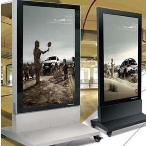 Standing Light Box with Movable Outdoor Display