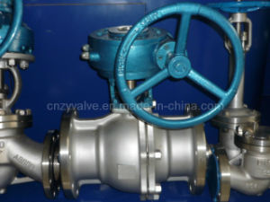 Flange Stainless Steel Worm Operated Ball Valve (Q341F) pictures & photos