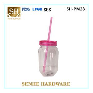 16oz Wholesale Juice Glass Mason Jar with Straw pictures & photos